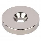 Неодимовый магнит диск 20х5 мм с зенковкой 4,5/10 мм