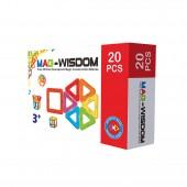 Магнитный конструктор Mag-Wisdom 20 деталей