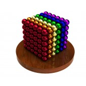 Куб из магнитных шариков 5 мм (разноцветный 6 цветов), 216 элементов
