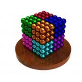 Куб из магнитных шариков 5 мм (разноцветный 8 цветов), 216 элементов