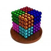 Куб из магнитных шариков 6 мм (разноцветный 8 цветов), 216 элементов