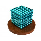 Куб из магнитных шариков 5 мм (бирюзовый), 216 элементов