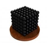 Куб из магнитных шариков 6 мм (чёрный), 216 элементов
