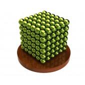 Куб из магнитных шариков 6 мм (оливковый), 216 элементов