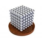 Куб из магнитных шариков 6 мм (серебрянный), 216 элементов