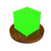 Куб из магнитных шариков 5 мм (светящийся в темноте), 216 элементов