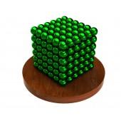 Куб из магнитных шариков 5 мм (зелёный), 216 элементов